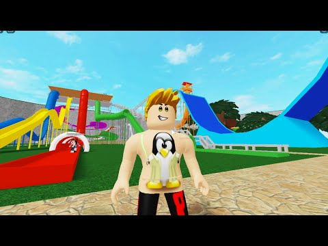 ПОКАТАЛИСЬ НА ВСЕХ ГОРКАХ В АКВАПАРКЕ ROBLOX WATER PARK